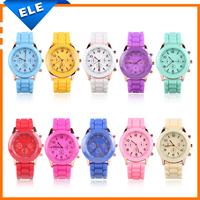 Unisex Quartz watch Analog Plastic Band men women wristwatches Geneva jelly three eye trephine Silicone Sport women Watches