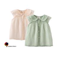 2014 New Children Clothing Girls Summer Cool Transparent Organza Lace Collar Blouse Children Blouse
