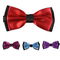 Retail Men's Fashion Solid Double-deck Bow Tie Wedding Party Adult Bowties 15 Styles Can Choose 2014 Ties For Men