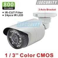 CCTV 800TVL CMOS 960H IR CUT Filter 24pcs IR leds Day/night waterproof indoor / outdoor CCTV security camera system with bracket
