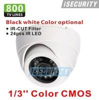 CCTV video Surveillance security Cameras CMOS 800tvl with IR CUT 960H 24pcs IR waterproof indoor dome camera with bracket