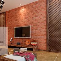 Wood Stone Wallpaper 3D PVC Brick Wall Paper Classic Design Vintage 10m Living Room Background Wall Home Decor Papel De Parede