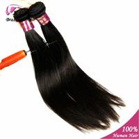 "100% Unprocessed Virgin Brazilian Hair Natural Straight Hair Extension 2 pcs/lot 6"" - 24"" In Stock 5A Grade Human Hair"