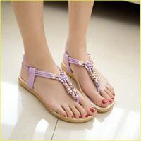 The new summer 2014  flat thong sandals women's shoes Women's leather sandals Pregnant women sandals
