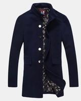 XXXL Long Men Trench Coats Single-breasted Coat Jacket Long Coats Autumn Winter Cardigan 2014 Men  Windbreaker Slim Outwear T606