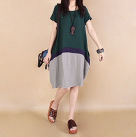 Linen Irregular Plus Size 2XL Loose Maternity Casual Dress Clothes for Pregnant Women Clothing for Pregnancy 2014 Summer