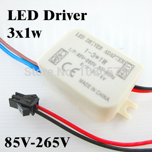 10pcs/lot 3X1W LED driver 85-265V 300mA External power supply 3W outside Transformers for ceiling light lamps, free shipping(China (Mainland))