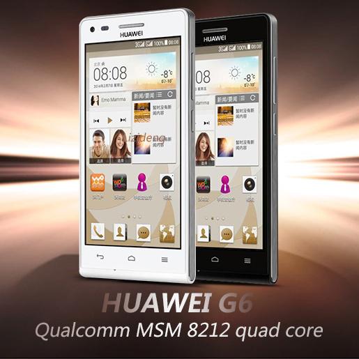 Original Huawei Ascend G6 4.5 inch 3G WCDMA Android 4.3 Smart Phone Qualcomm MSM8212 1.2GHz Quad Core 1GB+4GB 960 x 540(China (Mainland))