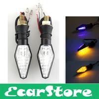 2pcs 12 LED 3528 SMD Motorcycle Double Colors Turn Signals Blinker Indicators