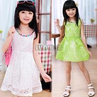 2014 Summer Girls Dress Princess Baby Clothes Kids Dress Children Dress Size For Girls Tutu Dress Retail B2 16342
