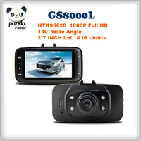 Car Camera DVR GS8000L 1920*1080P 140 degrees wide Angle 2.7inch LCD G-Sensor  Free Shipping