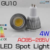 10x4w GU10 LED spot light bulbs High Brightness COB LED Spotlight led lampada POWER led spot lamp AC110V/220V/230V  FREESHIPPING