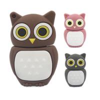 Wholesale U Disk Genuine Cartoon Brown/Pink/Gray Owl Model 4GB/8GB/16GB/32GB USB 2.0 Memory Stick Pen Thumb/Drive/Gift UP1091