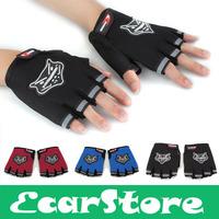 Black Blue Red Motorcycle Motorbike Bike Riding Half Finger Protective gear Racing Gloves