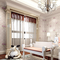 Living room bed room Pastoral  floral wallpaper roll Sofa TV background mural wall paper Non woven wallpapers for walls