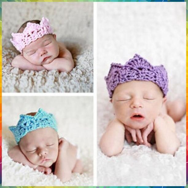 knit headband Hot Infant Baby Toddler Crochet Crown Headband Soft Headwear Crochet Hair Accessories #8P0018 20pcs/lot(12colors)(China (Mainland))