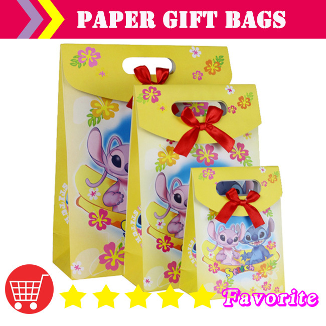 OEM paper bags with logo / baby birthday / lovely /Christmas bag/hot stamping/packaging bag#100162 small-cn shipping(China (Mainland))