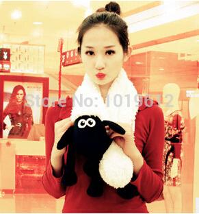 High Quality Super cute shaun sheep new winter plush toy lamb doll shaun Timmy sheep scarf plush cloth toys(China (Mainland))