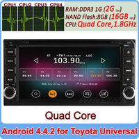 Free Shipping, Dual-Core A9 Pure Android 4.2 Car DVD GPS Video Player For Toyota RAV4 COROLLA Previa VIOS HILUX Prado Terios DVR
