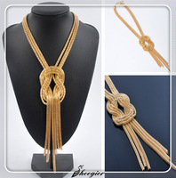 New 2014 Fashion Necklaces & Pendant Gold Tassel Chain Necklaces Long Necklace women High quality Free shipping !
