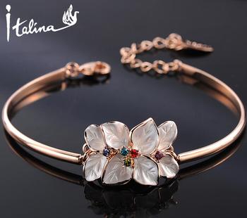 Italina Rigant 2014 новое поступление цветок браслет браслеты с австрийский хрусталь ...