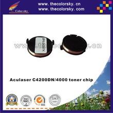 (CS-EC4100) reset laser printer toner chip for Epson Aculaser C4200DN C4000 C4200 C 4000 4200 4200DN C13S050245 10/8.5k free DHL