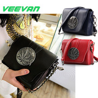VEEVAN WFCSB01459 New 2014 Girl's Messenger bags Vintage Fashion Leisure Bag Shoulder Bag Chain Bag Women Leather Handbag