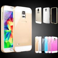 For Samsung Galaxy S4 i9500 Luxury Ultrathin Aviation Aluminum Ultra Thin Metal Bumper Case No Screws 0.86mm Frame Cover