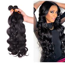 Queen weave beauty 3/4 bundles brazilian virgin hair 100