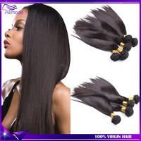 6A brazilian virgin hair straight 4pcs Ms lula hair brazilian straight hair extensions human hair weave silk straight Ali moda