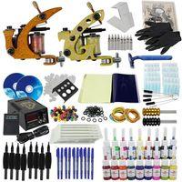 Tattoo starter kit Machine Guns 18 Color Inks Supply Set Equipment 004