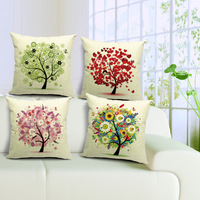4 Piece/Set Heigh Quality Pastoral 4 Style Plant Pillow Cushion Cover for Office home Decor sofa cushions 45cm*45cm