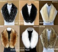 Hot Selling! Winter Women's Faux Fur Scarf Raccoon Fur Cap Fur Collar Scarves free shipping