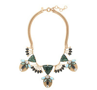 Free Shipping / J-C-J  /  FANNED JEWEL STATEMENT NECKLACE