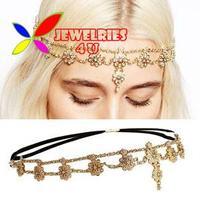 2014 luxury faux pearl crytsal flower linked bridal wedding head bands for women women hair accessories jewelry bijoux wholesale