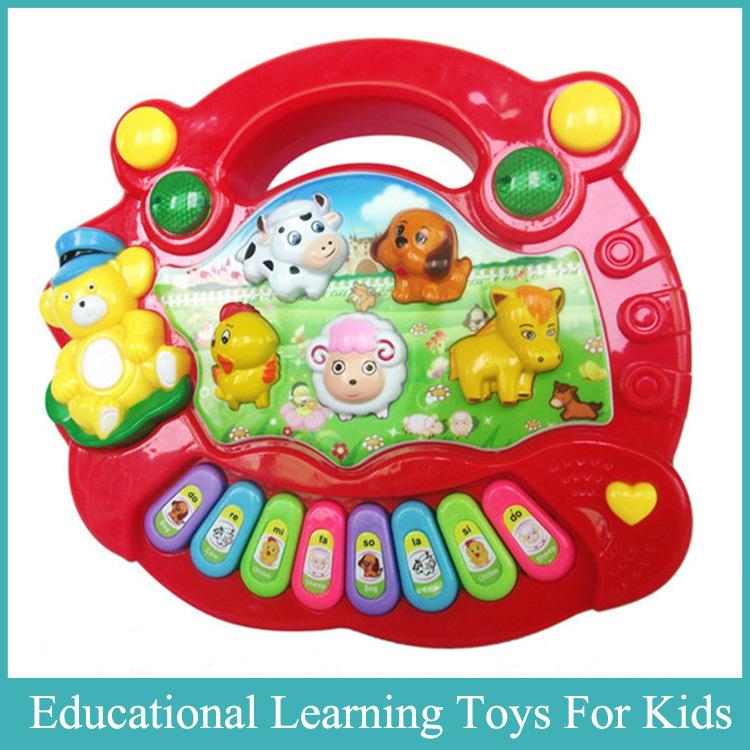 1PC Electronic Piano Toy Cheap & New Arrival Cute Baby Piano Kid Animal Farm Music Toy Developmental English Learning Machine(China (Mainland))