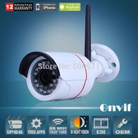 Onvif 2.0 Megapixel 1920x1080 1080P HD 24 IR Outdoor CCTV Network WIFI Wireless IP Camera Security Video Surveillance Camera