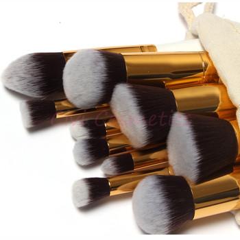 10 шт. мягкий синтетические волосы составляют ящик для инструментов косметические красоты щетку комплект с подарок ничья авоську