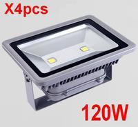 (4pcs/lot) AC 85-265V 120W LED Floodlight Outdoor LED Flood light Waterproof LED Flash Light lamp Warm white/ White