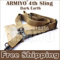 Armiyo 4th Generation Quick Release Elastic Binoculars Strap Bunge Snap Hook DV machine Sling System Dark Earth Free Shipping