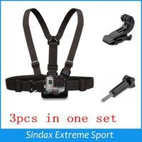 For GoPro Accessories Adjustable Elastic Chest Belt + J-Hook Buckle + Screw for gopro Hero3 2 HD Camera Black Edition