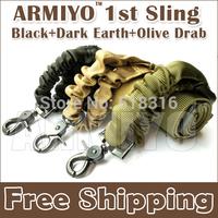 Armiyo 1st Gen Single Point Metal Snap Swivel Hook Connector Nylon Sling DV machine Scope Black,Dark Earth,Olive Drab Wholesale