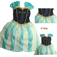 frozen dress anna coronation dresses girls Anna costume party dress, new hot design children Frozen clothing ,5pcs/lot