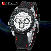 2014 hot New Fashion Curren Men Sports Watches Luxury Brand Silicone Men Quartz Military Army Watch relogio masculino