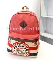 Women Girl Striped Canvas Backpack Leisure Hot School Backpacks For Teenagers Travel Rucksack