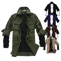 New 2014 Fashion Military Jackets Men Coat Casaual Regular Fit Coat Jacket For Man Large Size