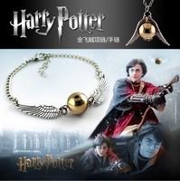 2pcs 2015 new European American trade man jewelry retro Harry Potter Golden Snitch bracelet fashion movie
