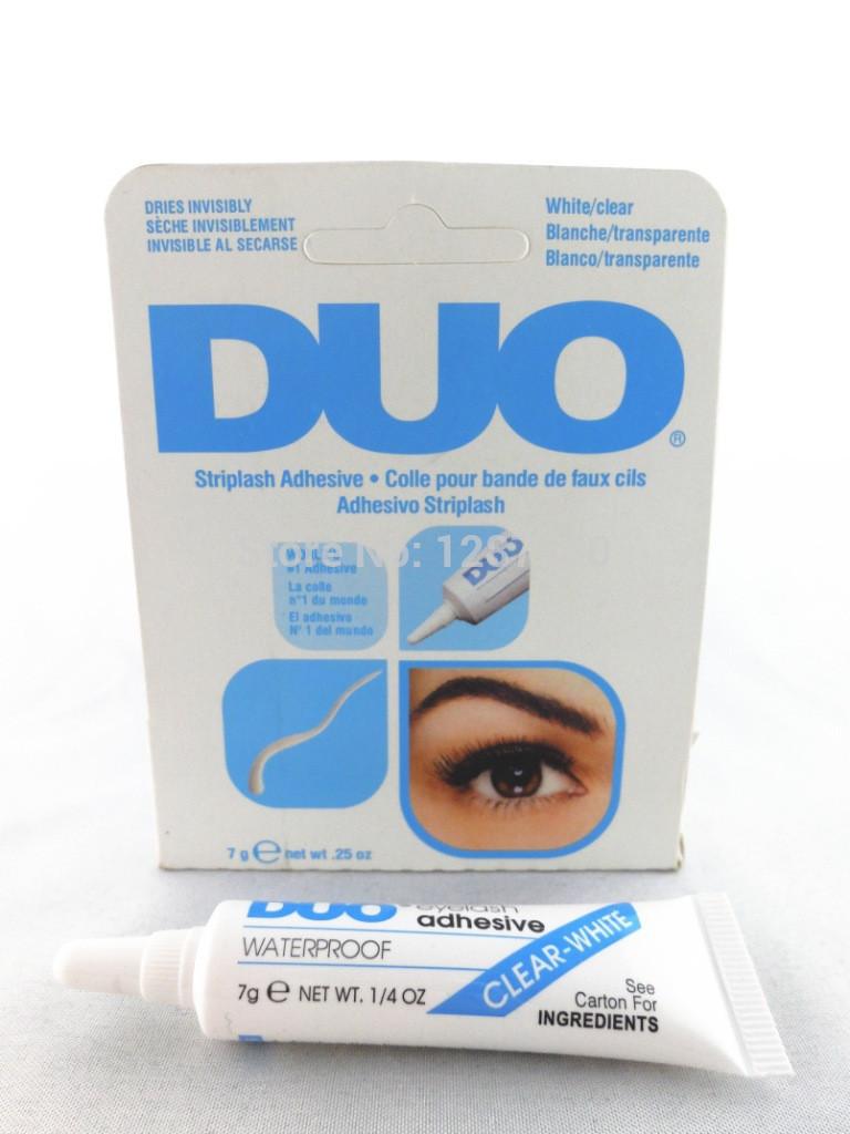 2pcs New Eyelash Glue white Clear Adhesive False Eyelash Glue For Professional(China (Mainland))