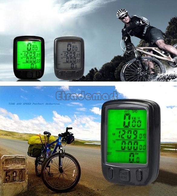 2014 New LED Display Cycling Bicycle Bike Computer Odometer Speedometer #005 SV003378(China (Mainland))