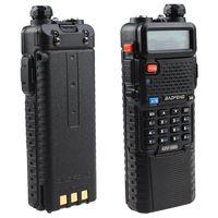 Portable radio baofeng UV5R,Dual Band UHF/VHF 136-174 & 400-520MHz ham Radio transceiver with 3800mAh Li-ion battery built-in
